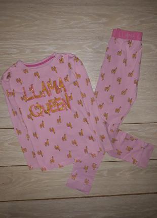 Хлопковая пижама matalan на 9 лет.