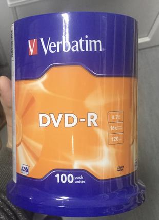 Чистые DVD-R Verbatim 4.7Gb 16x (100 Pack)