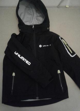 Куртка 110-116 см черная Спорт мальчик