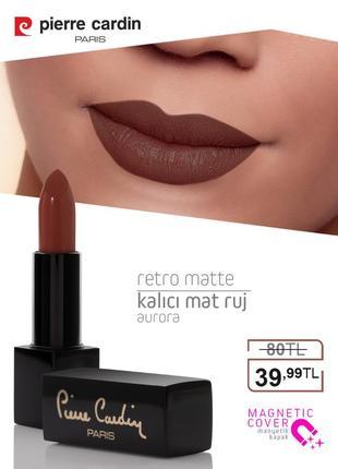 Pierre cardin retro matte lipstick - аврора - 146