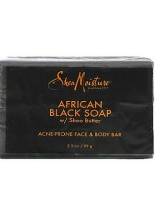 SheaMoisture, Африканское черное мыло с маслом ши, 99 г