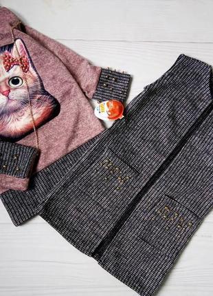 Набір плаття ангоровe+кардиган