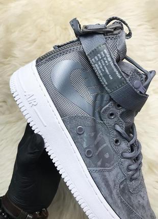 Nike air force special field gray мужские серые осенние кроссо...