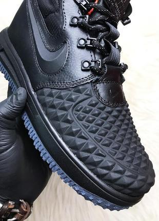 Nike lunar force 1 duckboot '17 black мужские чёрные демисезон...