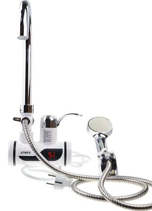 Мгновенный проточный водонагреватель с душем (нижнее подключение)