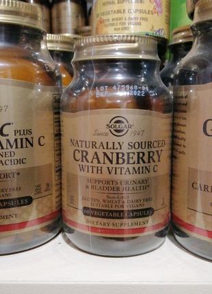 Solgar натуральная Клюква с витамином С 60 капсул Солгар