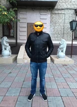 Кожаная куртка / дубленка, мех тоскана
