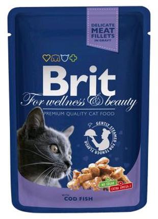 Влажный корм для котов Brit Premium Cat Cod Fish