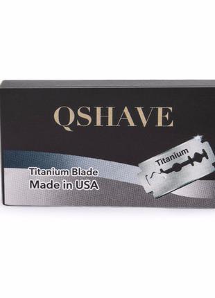 Лезвия титановые Qshave для классических опасных бритв Gillette