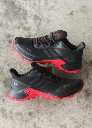 Adidas terrex gtx мужские водонепромокаемые кроссовки черные