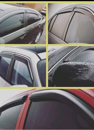 Дефлекторы окон ( ветровики )  ВАЗ Renault Opel Volkswagen .....
