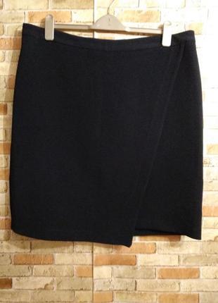 Стильная фактурная юбка на запах 18/52-54 размера