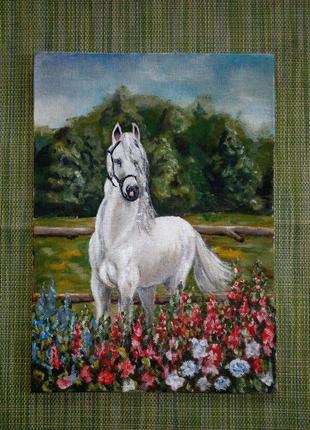 Картина лошадь , живопись