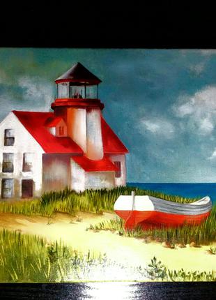 Картина живопись , маяк