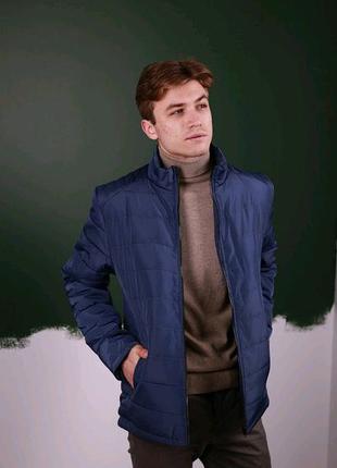 Чоловіча Весняна куртка Синій пуховик (Осінь)