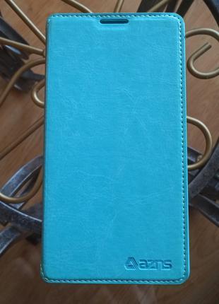 Чехол-книжка голубой для смартфона Lenovo K910.