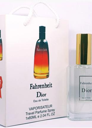 Christian Dior Fahrenheit, 60 мл. Тестер Подарочный Пакет