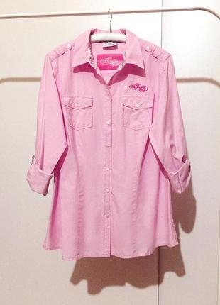 Женская розовая рубашка gina benotti пог 57 см