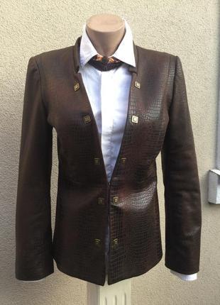 Красивая куртка,жакет,пиджак под кожу рептилии(замшу),anthraci...