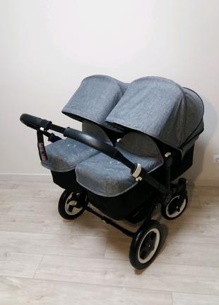 Bugaboo donkey twin коляска для двойни