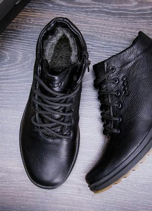 Мужские зимние кожаные кроссовки Ессо