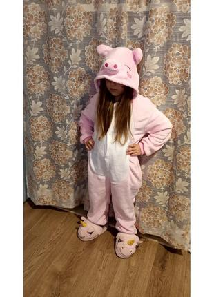 Пижама кигуруми для детей  свинка розовая (хрюша)