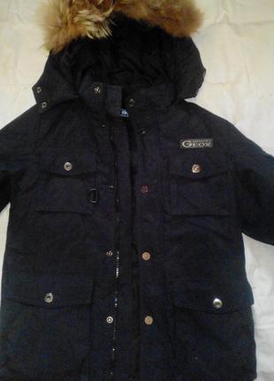Зимняя курточка на мальчика рост 140-146