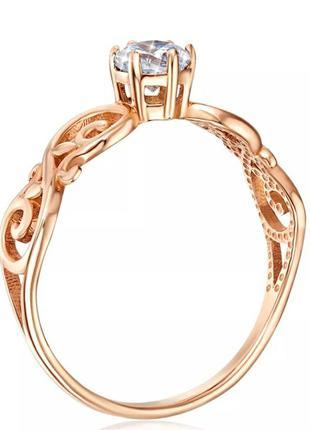 Золотое кольцо с фианитом Swarovski Zirconia
