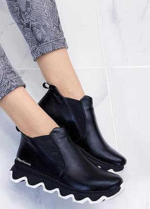 Новые женские кожаные осенние ботинки