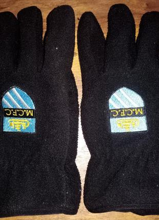 Флисовые перчатки с символикой fc manchester city