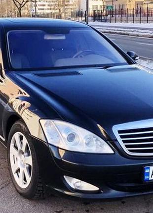 093 Mercedes W221 S550L black прокат авто