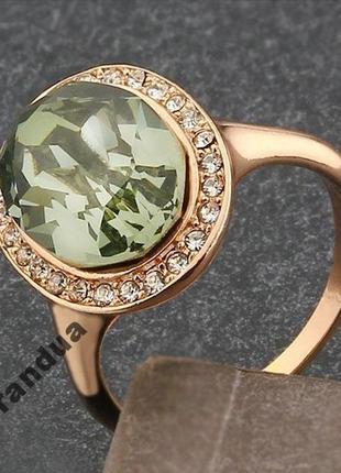 Позолоченное кольцо 17 размер