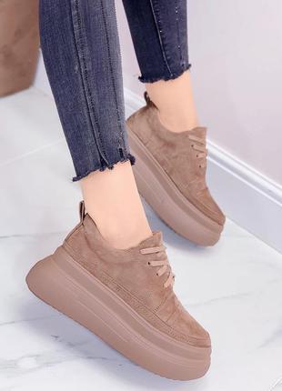 ❤ женские бежевые зимние кроссовки ❤