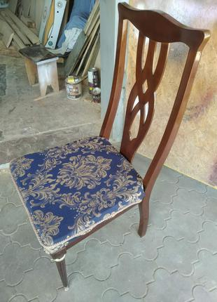 Винтажный стул из натурального дерева