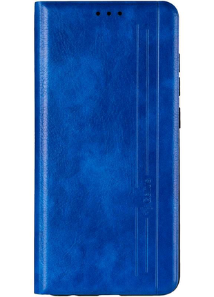 Чехол книжка Xiaomi Redmi Note 9 кожаная обложка Leather case