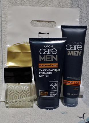 Набор: парфюм. вода attraction, гель д/бритья, бальзам п/бритья