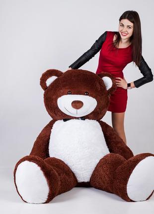 Большой плюшевый мишка Yarokuz Ричард 200 см Шоколадный