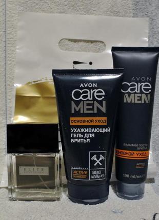 Набор: парфюм.вода elite gentlemen,гель д/бритья,бальзам п/бритья
