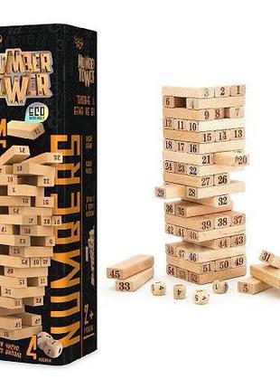 Настольная игра Дженга Башня Jenga Number Tower Джанга