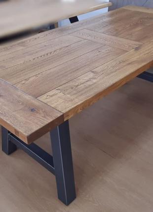 Стол дубовый, массив, под заказ, Лофт стиль, мебель для дома