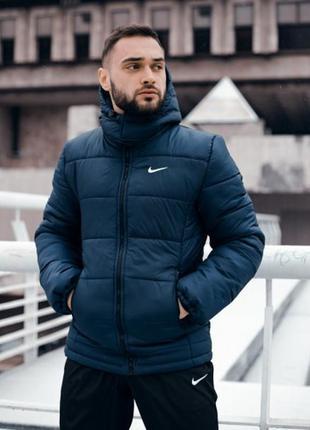Зимняя мужская куртка европейка синий