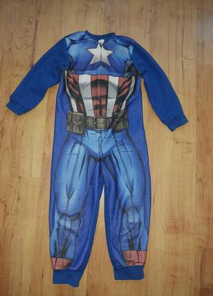 Слип пижама кигуруми капитана америка