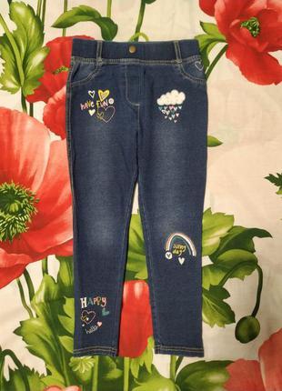 Стильные джинсы,джеггинсы для девочки 3-4 года