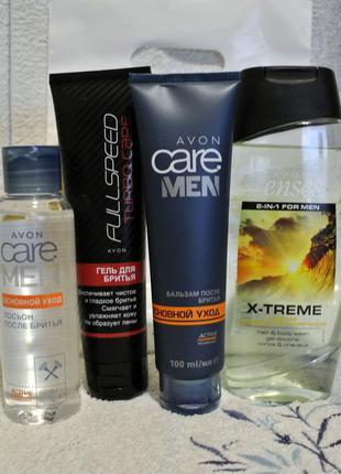 Набор д/мужчин: гель д/бритья,бальзам п/бритья лосьон,гель д/душа