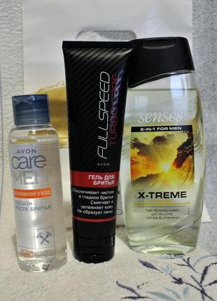 Набор д/мужчин: гель д/бритья, лосьон п/бритья, гель д/душа
