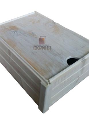 Дерев'яна скриня для подарунків та господарства • Ящик • Бокс •