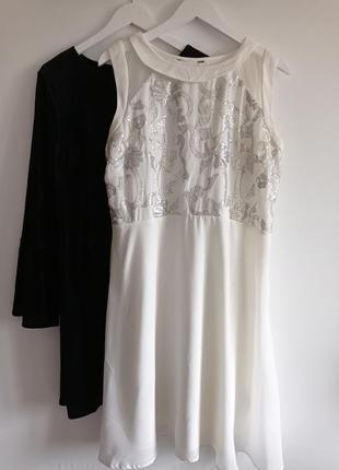 Нарядное платье с пайетками большого размера