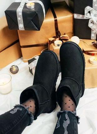 УГГИ женские замшевые на меху, UGGI, Ботинки сапошки