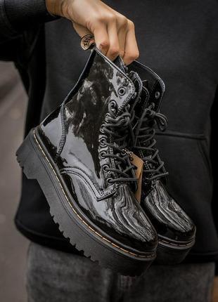 Шикарные женские ботинки dr. martens jadon black