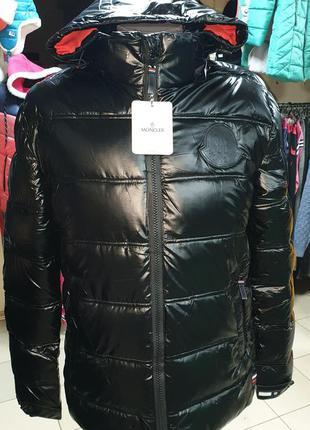 Мужская зимняя куртка moncler чоловічий пуховик